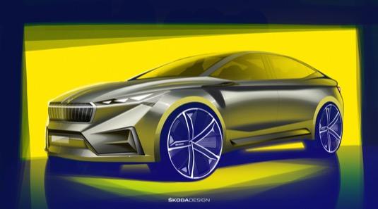 auto elektromobil Škoda Vision iV
