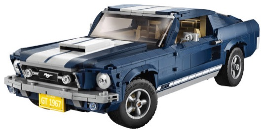 Ford Mustang z produktové řady LEGO Creator Expert bude u prodejců LEGO k dispozici od 1. března 2019. Cena činí v přepočtu přibližně 3 360 Kč