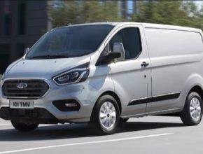 auto Ford Transit Custom PHEV plug-in hybrid dodávka