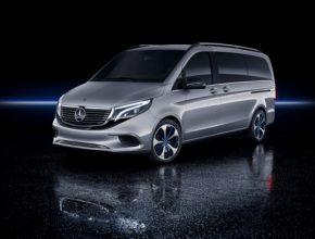 Koncept elektromobilu Mercedes-Benz EQV by měl díky 100kWh baterii umožnit dojezd až 400 km
