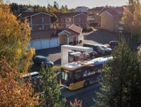 elektrobusy elektrické autobusy Scania v Östersundu