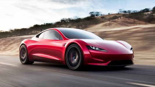 auto elektromobil Tesla Roadster v2 druhá generace