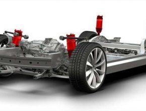 auto elektromobil Tesla Model 3 odpružení výkon dojezd elektromotor