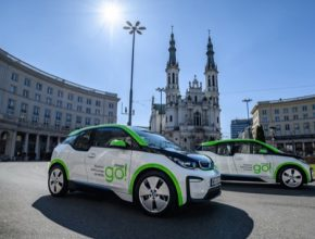 auto elektromobily BMW i3 ve Varšavě v rámci služby innogy GO!