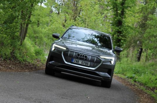 Audi e-tron není žádný teréňák, ale klikatých ani kodrcavých cest se nebojí. 21
