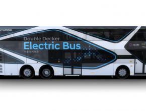 auto elektrobus elektrický autobus doubledecker Hyundai