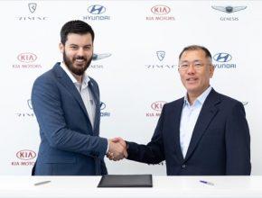 auto elektromobily Mate Rimac Hyundai Kia spolupráce