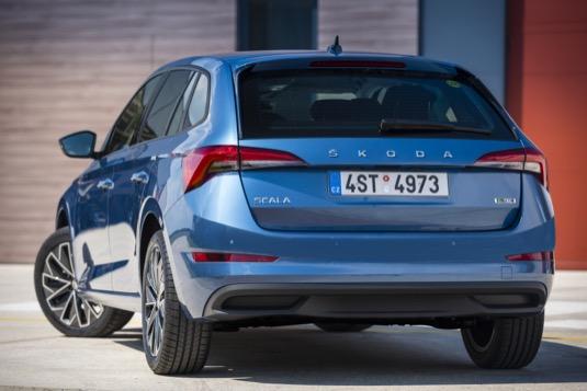 auto Škoda Scala G-TEC s pohonem na CNG zemní plyn