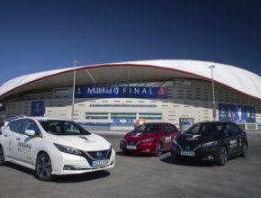 auto elektromobily UEFA Finale Madrid Nissan