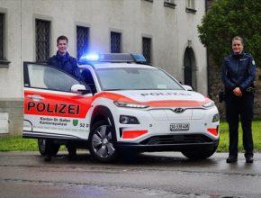 auto Hyundai Kona Electric elektromobil švýcarská policie