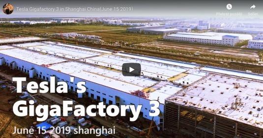 auto Tesla Gigafactory 3 gigatovárna 3