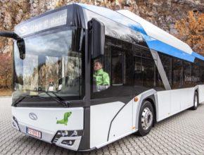 elektrický autobus elektrobus Solaris Urbino 12