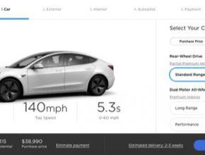 auto elektromobil Tesla Model 3 design studio