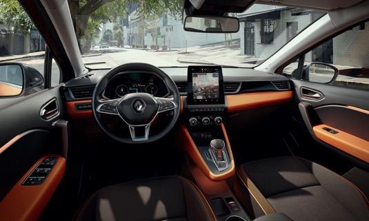 Interiér nového Renaultu Captur