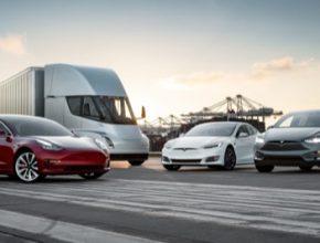Rodina elektromobilů Tesla