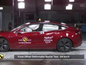 auto elektromobil Tesla Model 3 Crash Test Euro NCAP