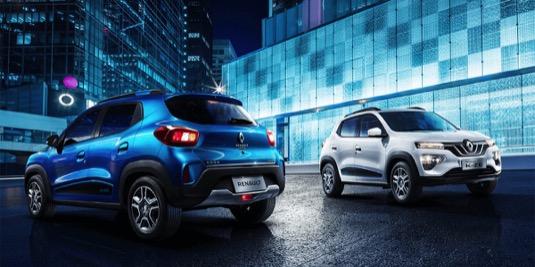 auto Renault K-ZE Čína mini elektromobil