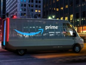 auto elektromobil elektrická dodávka Rivian pro Amazon