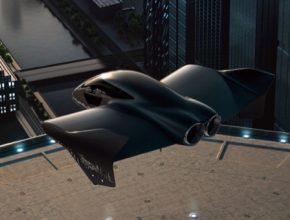 Porsche a Boeing eVTOL létající dron přepravní