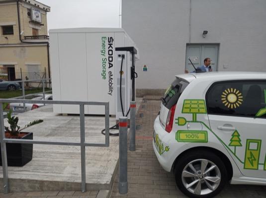 Škoda Auto Podbabská energetické úložiště