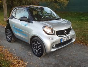 auto test elektromobilu Smart EQ ForTwo