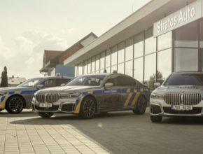 auto plug-in hybrid BMW 745Le xDrive policie ČR