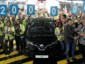 Renault hlásí 200 000 vyrobených elektromobilů Zoe