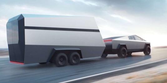 Nabídne Tesla k Cybertrucku také stylizovaný obytný přívěs?