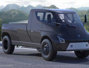 auto elektromobil Tesla pick-up truck