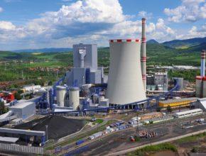 uhelná elektrárna Ledvice společnosti ČEZ