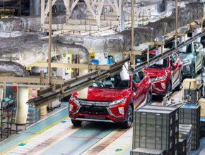 auto výroba v továrně Mitsubishi Okazaki