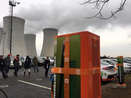 rychlonabíjecí stanice pro elektromobily ČEZ Dukovany jaderná elektrárna
