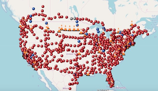Celkově už globální síť nabíjecích stanic Tesla Supercharger dosáhla počtu 15 000 stojanů v 1716 lokacích.