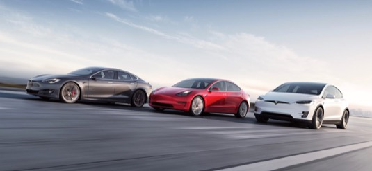 auto elektromobily Tesla Model S Model X Model 3