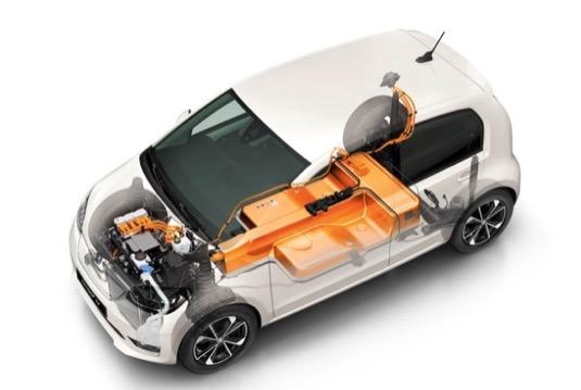 Baterie umístěná v podvozku měří 1,1 x 1,7 x 0,3 metru a skládá se ze 168 článků.