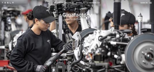 auto Tesla Gigatovárna Berlín Braniborsko gigafactory výroba elektromobilů
