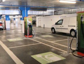 auto elektromobily rychlonabíjecí stanice ČEZ Brno Královo Pole