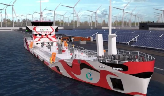 Japonsko ropný tanker na elektřinu