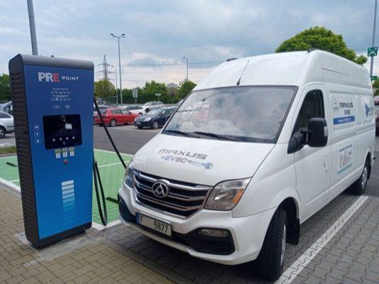 auto elektrická dodávka elektromobil Maxus EV80
