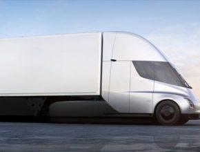 auto elektromobil elektrický tahač Tesla Semi