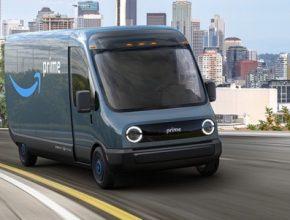 auto elektromobil Rivian pro Amazon dodávka elektrická