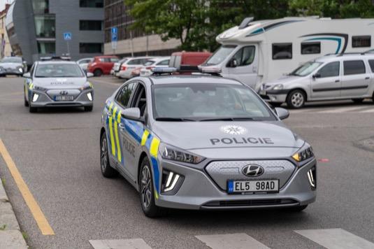 Elektromobil Hyundai Ioniq Electric jako české policejní auto