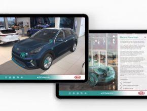 Uživatelé si mohou pomocí rozšířené reality (AR) znázornit elektromobily Kia a detailně se s nimi seznámit