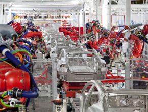 auto elektromobily výroba Tesla Model S továrna
