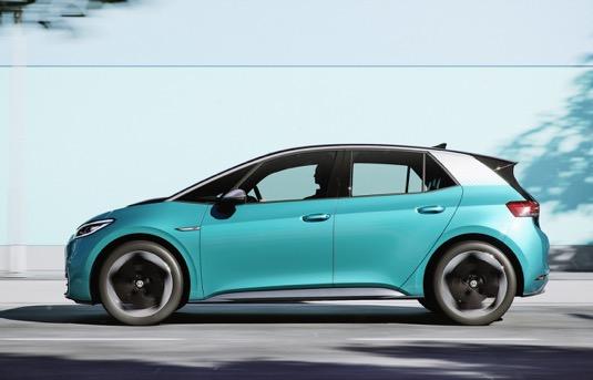 auto výroba aut automobilový průmysl Německo Volkswagen iD.3 elektromobil