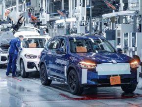 auto elektromobil výroba BMW iX3 Čína