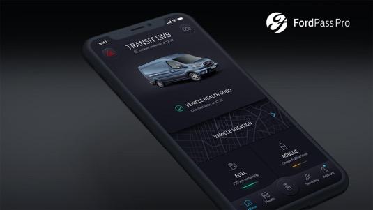 Mobilní aplikace pro správu vozů Ford