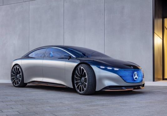 auto elektromobil Mercedes-Benz Vision EQS