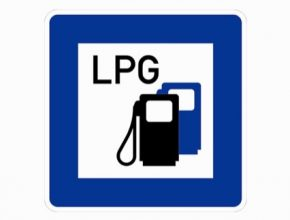 auto LPG značka symbol na plyn