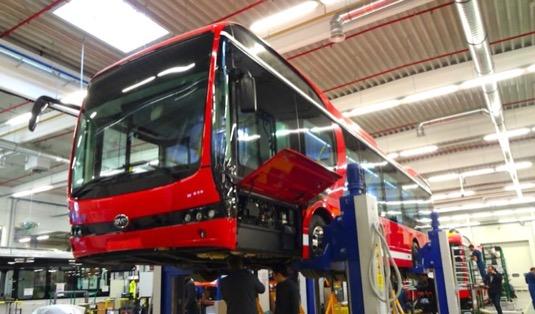 auto BYD továrna Maďarsko Komárno elektrobusy